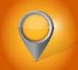 orange locator pointer illustration design