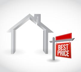 best price real estate sign illustration design
