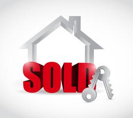 sold home concept illustration design