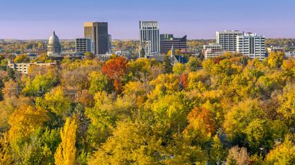 City of trees Boise Idaho in the fall