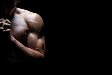 Muscular Man Praying