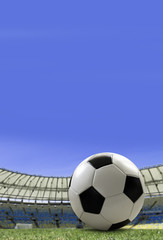 Soccer ball on the stadium