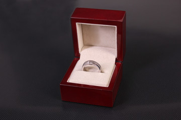 men's ring in a box