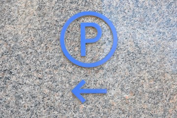 Parking space direction signage
