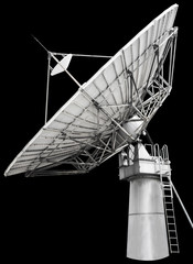 Large satellite dish designed for transatlantic communication
