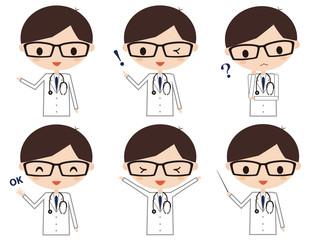 医者 表情 バリエーション