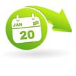 agenda sur web symbole vert