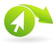 cliquez ici sur web symbole vert