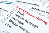 performance rating and appraisal form poster