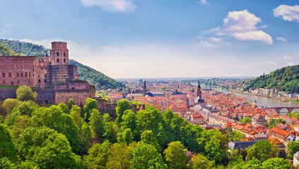 Heidelberg am Neckar mit Schlossruine
