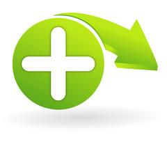 ajouter sur web symbole vert