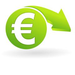 euro sur web symbole vert