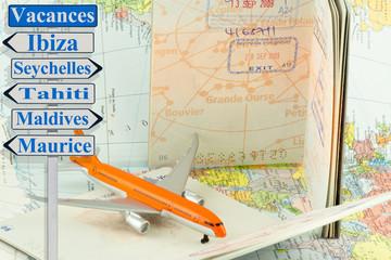 concept voyages, vacances autour du monde
