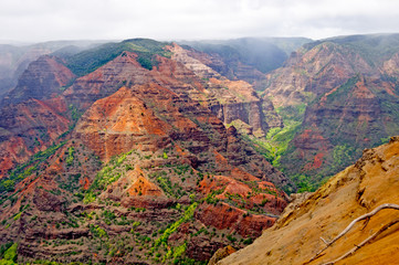 Clouds and Colors in a Canyon