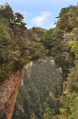 Famous Avatar Mountain in Zhangjiajie National Forest Park.