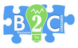 B2C colorful Shapes poster