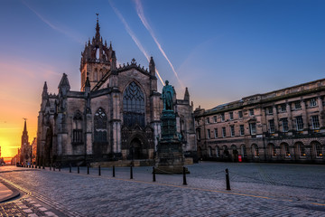St Giles Cathedral at Sunrise, Edinburgh