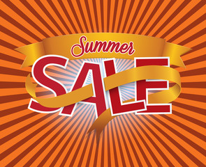 Summer Sale. Vector design elements