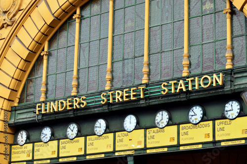 Staande foto Treinstation Flinders Street Station - Melbourne