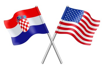 Flags : Croatia and the United States