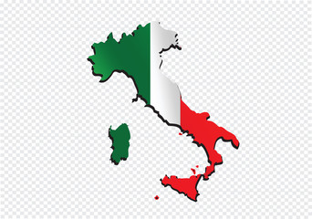 italy map and flag idea design