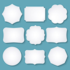 Vector set of paper decorative frames