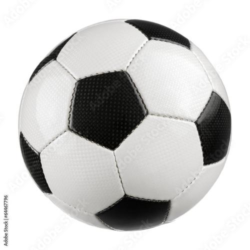 Fußball auf reinem Weiß - 64467796