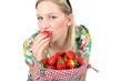 frische Erdbeeren ernten