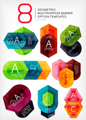 Geometric shaped option banners collection
