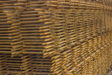 Stack of rebar grids 3 poster