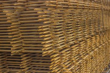 Stack of rebar grids 3