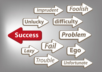 Way to success arrow graphic