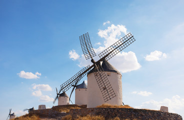 windmills of the municipality of Konsuegra. Spain