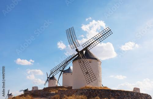 windmills of the municipality of Konsuegra. Spain