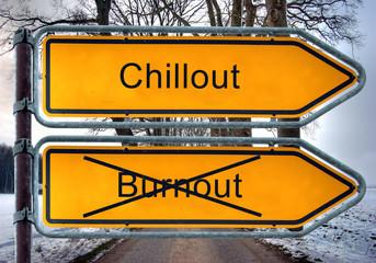 Strassenschild 4 - Chillout