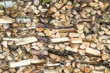 Brennholz Holzstapel Close up