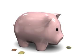 Tirelire Cochon - Pièces de Monnaie en Euro