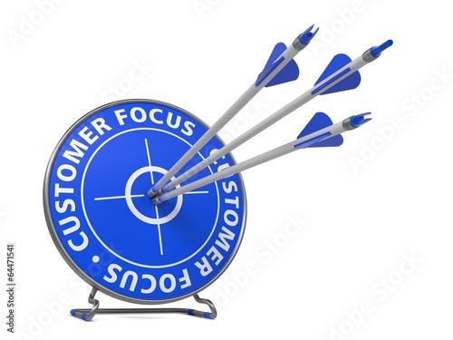 Leinwandbild Motiv Customer Focus Concept - Hit Target.