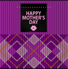 Argyle Sweater Background and happy mother's day