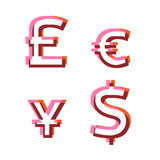 Abstract vector alphabet glyphs poster