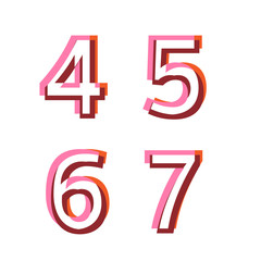 Abstract vector alphabet numbers