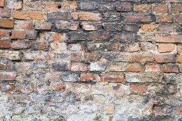 very old brick wall close up