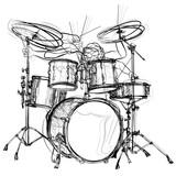 Fototapety drummer