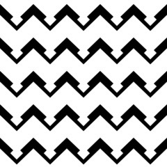 chevron pattern in black and white