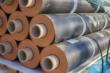Rolls of insulation material 3