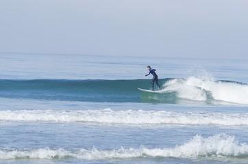Surfer, Pacific beach, San Diego, California