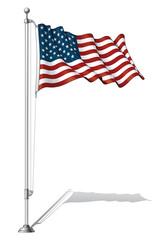 Flag Pole USA.