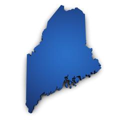 Map Of Maine 3d Shape