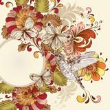 Wzór florystyczny - 64475536
