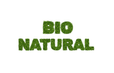 bio natural grass text